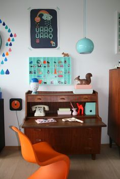 I think I like these colors to go with my retro desk....