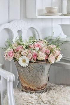 a rustic bucket full of beauty!