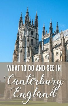 Plan your trip to historic Canterbury, England, with the help of this useful travel guide. Travel tips for your trip to the United Kingdom. Kent England, England And Scotland, Travel Guides, Travel Tips, Travel Articles, Budget Travel, Canterbury England, Canterbury Tales, Oh The Places You'll Go