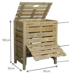Dřevěný komposter 400l - 2