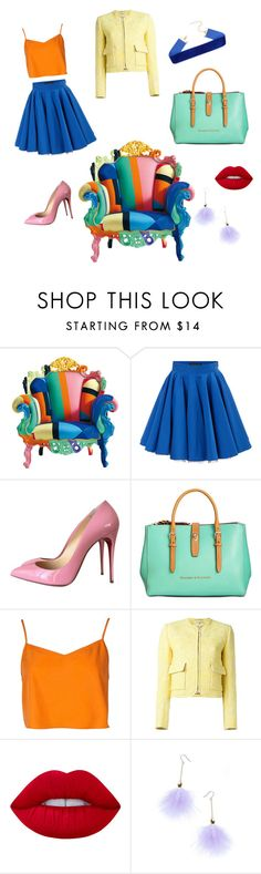 """"""".💞"""" by amanda-ineffable ❤ liked on Polyvore featuring Philipp Plein, Christian Louboutin, Dooney & Bourke, Boohoo, Carven, Lime Crime and Ana Accessories"""