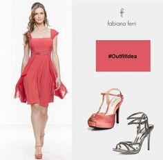 #OutfitIdea abbina quest' #abitino #Fragola con dettagli geometrici in rete ad accessori #silver o in tinta #FabianaFerriShoes #ss15 #spring #pink #style #moda #minidress #fashion #color