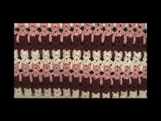 How to make #Crochet knit ENGLISH Abstract Cats Pussy Blanket #157 Tutorial Free Online Class Art - YouTube