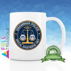 ••• GRAMMAR POLICE MUG•••  By Full Triangle  This fun mug is perfect for…
