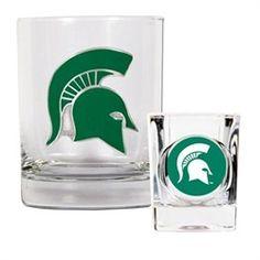 Michigan State University Rock Glass & Shot Glass Set