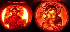 On October we celebrate the eve of All Saints. Pope Sixtus IV in 1484 established November the feast of All Saints, as a holy day. Theme Halloween, Holidays Halloween, Halloween Decorations, Halloween Pumpkins, Catholic Holidays, Catholic Saints, Roman Catholic, Hallowen Ideas, Pumpkins