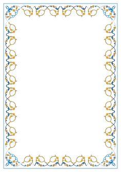 صور\صور\براويز\03L.BMP Boarder Designs, Frame Border Design, Page Borders Design, Borders For Paper, Borders And Frames, Islamic Art Pattern, Pattern Art, Glass Etching Designs, Flower Border Png