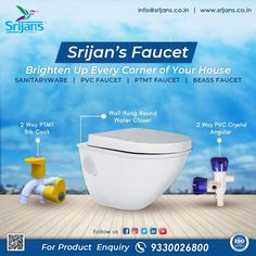 Srijan's Faucet is your one-stop destination for all your sanitation and plumbing needs. Be it faucets, pipes, EWCs, or showers, there's something for everyone. We deal in luxury as well as everyday sanitary items. Our products are sturdy, hygienic, and pocket-friendly. Logon to our socials to know more about us. #sanitaryware #x #bathroom #sanitary #tiles #bathroomdesign #interiordesign #floortiles #shower #toilet #washbasin #taps #walltiles #faucet #homedecor #buildingmaterial #plumbing… Building Materials, Wall Tiles, Plumbing, Faucet, Toilet, Flooring, Shower, Bathroom, House