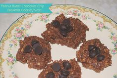 peanut butter chocolate chip breakfast cookies