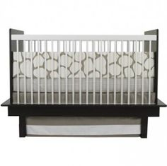 Gender Neutral Nursery Decor - Oilo Cobblestone Taupe Crib Set - fawn @Bellafind