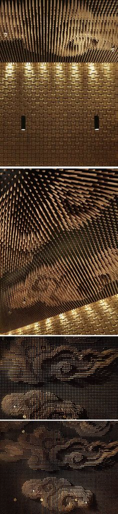 Tsujita-restaurant-by-Takeshi-Sano-Los-Angeles_Bamboo Sticks Ceiling Feature
