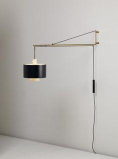 PHILLIPS : NY050209, Gaetano Scolari, Adjustable wall-mounted lamp