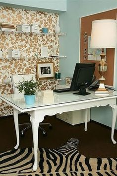 Girly, Chic and Modern Workspace