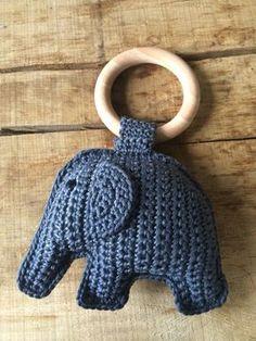 Haken   olifant aan bijtring. incl. gratis patroon