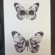 Have many butterflies in a like and have skull in first one ribs in second, etc. Source by dxrksoul The post Have many butterflies in a like and have skull in first one ribs in second, etc. appeared first on Pencil Drawing. Skeleton Tattoos, Skull Tattoos, Leg Tattoos, Body Art Tattoos, Tattoo Drawings, Sleeve Tattoos, Skull Butterfly Tattoo, Butterfly Tattoo Designs, Manos Tattoo