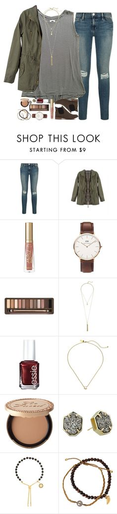 """(almost) my exact outfit for family pics today!!"" by sdyerrtx ❤ liked on Polyvore featuring Too Faced Cosmetics, Daniel Wellington, Urban Decay, Cole Haan, Essie, Kate Spade, Kendra Scott, Astley Clarke, Tai and Akira Black Label"