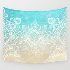 Buy Beach Mandala by Jenndalyn as a high quality Wall Tapestry. Worldwide shipping available at Society6.com. Just one of millions of products available.