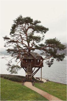 Scottish tree/lake house - Fancy Tree House