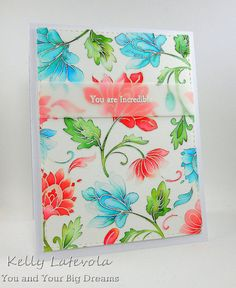 This Persian Motif card from Kelly truly is incredible!  We love the coloring and arrangement of the floral images.