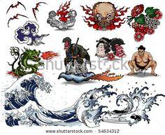 Japanese tattoo design - stock vector