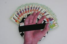 The Amazing Mr. Handy Gripper Playing Card Holder - Playing Card Design fabric - pinned by pin4etsy.com