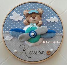Fairy Crafts, Diy And Crafts, Felt Kids, Bear Felt, Balloon Cake, Baby Shawer, Baby Presents, Felt Garland, Baby Sewing Projects