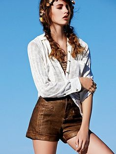 Washed Vegan Leather Short from our December Catalog! #freepeople #fashion #December