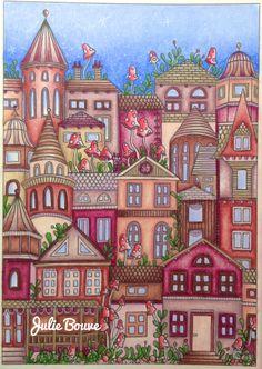Daydreams - dagdrommar postcard Colored by Julie Bouve