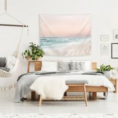 Best coastal wall decor and beach themed wall art for your home. We have some of the absolute best beach style wall decorations including canvas art, wall art, metal art, wooden beach signs, and more. Tapestry Design, Wall Tapestry, Teal Blue Color, Yellow, Green Colors, Navy Blue, Beach Wall Decor, Home Decor Outlet, Green And Grey