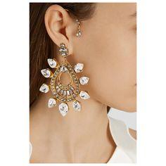 Ohrringe mit Swarovski-Kristallen von Erickson Beamon