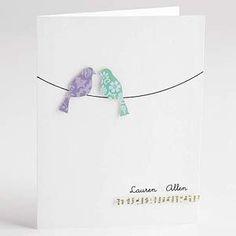 Love Birds Wedding Card