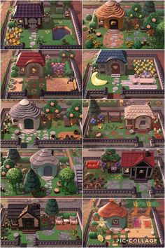 Decided to extend and decorate my villagers' yards yesterday! So happy I did. - AnimalCrossing Animal Crossing Funny, Animal Crossing Wild World, Animal Crossing Guide, Animal Crossing Villagers, Animal Crossing Qr Codes Clothes, Animal Crossing Pocket Camp, Cabello Animal Crossing, Ac New Leaf, Garden Entrance