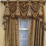 Embroidered Paradise Window Tailored Valance, 54 x 36- RL Fisher-For the Home-Window Coverings-Various Coordinates