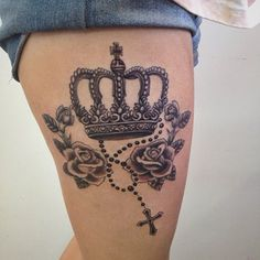 Princess Tattoo ~ Roses and Crosses