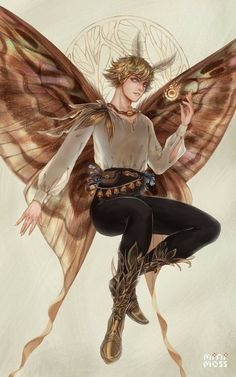 Fantasy Character Design, Character Design Inspiration, Character Art, Magical Creatures, Fantasy Creatures, Male Fairy, Fairy Cosplay, Fairy Drawings, Fantasy Races