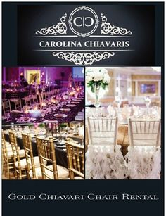 Chivari chair rentals — Make your event appear gorgeous! Business Events, Corporate Events, Gold Chivari Chairs, Wedding Decorations, Table Decorations, Wedding Costs, Outdoor Events, Chair Covers, Wedding Planner