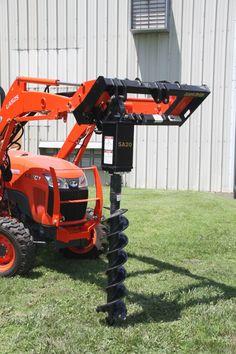Compact Tractor Attachments, Tractor Accessories, Compact Tractors, Digger, Pride, Woodworking, Ideas, Carport Garage, Garden