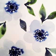 Blue blossoms by Stephanie Ryan.