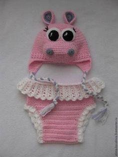 """костюмчик для фотосессии """"Бегемотик"""" - розовый,костюм для фотосессии,вязаный костюм"""