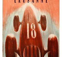 1947 Lausanne Grand Prix Racing Poster,Switzerland,Lausanne grand prix,formula one,racing poster,ephemera,retro,vintage race  car,motor sports,automotive art,poster art,1947,motor race,racing circuit,vintage grand prix,antique race car