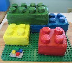 How to make a Lego cake.