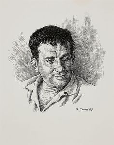 thebristolboard:  Original portrait of Jack Kerouac by Robert Crumb from Meet the Beats, published byWater Row Press, 1985.