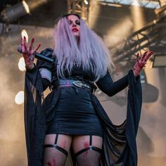 Pic by Rudi Wauters, taken sometimes, somewhere in the world. see tomorrow at the Gefle festival, Sweden! Lacuna, Cristina Scabbia, Rain Fashion, Goth Glam, Lita Ford, Women Of Rock, Sexy Nails, Metal Girl, Thrash Metal