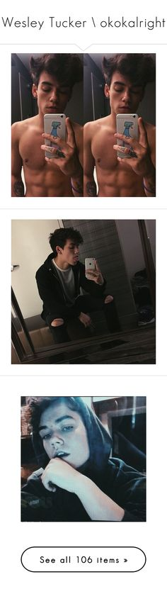 """Wesley Tucker \\ okokalright"" by cute-but-trash ❤ liked on Polyvore featuring love, faces and wes tucker"