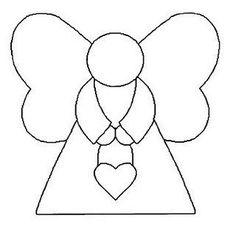 patrones y plantillas de angeles de fieltro