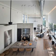 Going for these interior design loft style ideas may very well be the best living style for you, and you do not know it yet Interior Design Minimalist, Loft Interior Design, Loft Design, Deco Design, Home Interior, Interior Architecture, House Design, Interior Ideas, Apartment Interior