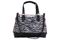 Carry All Tote, Zebra/Magenta