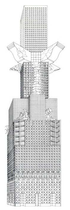 Franco Purini, Barbaric Skyscraper, 1985