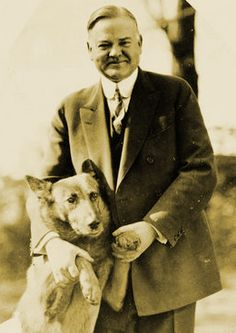 "King Tut Police Dog President Herbert Hoover poses with his dog, King Tut.reminds me of the old theme song from ""All in the Family"".""Didn't need no welfare state, everybody pulled his weight.mister we could use a man like herbert Hoover again! Us History, American History, History Pics, American Symbols, Modern History, American Pride, American Art, The One, Air Force One"