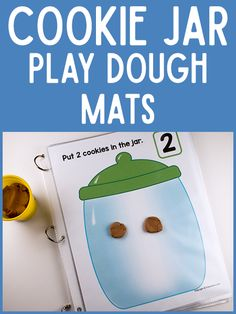 Who doesn't love cookies? Check out this fun playdough mat that helps children work on their numbers! Perfect for preschoolers!